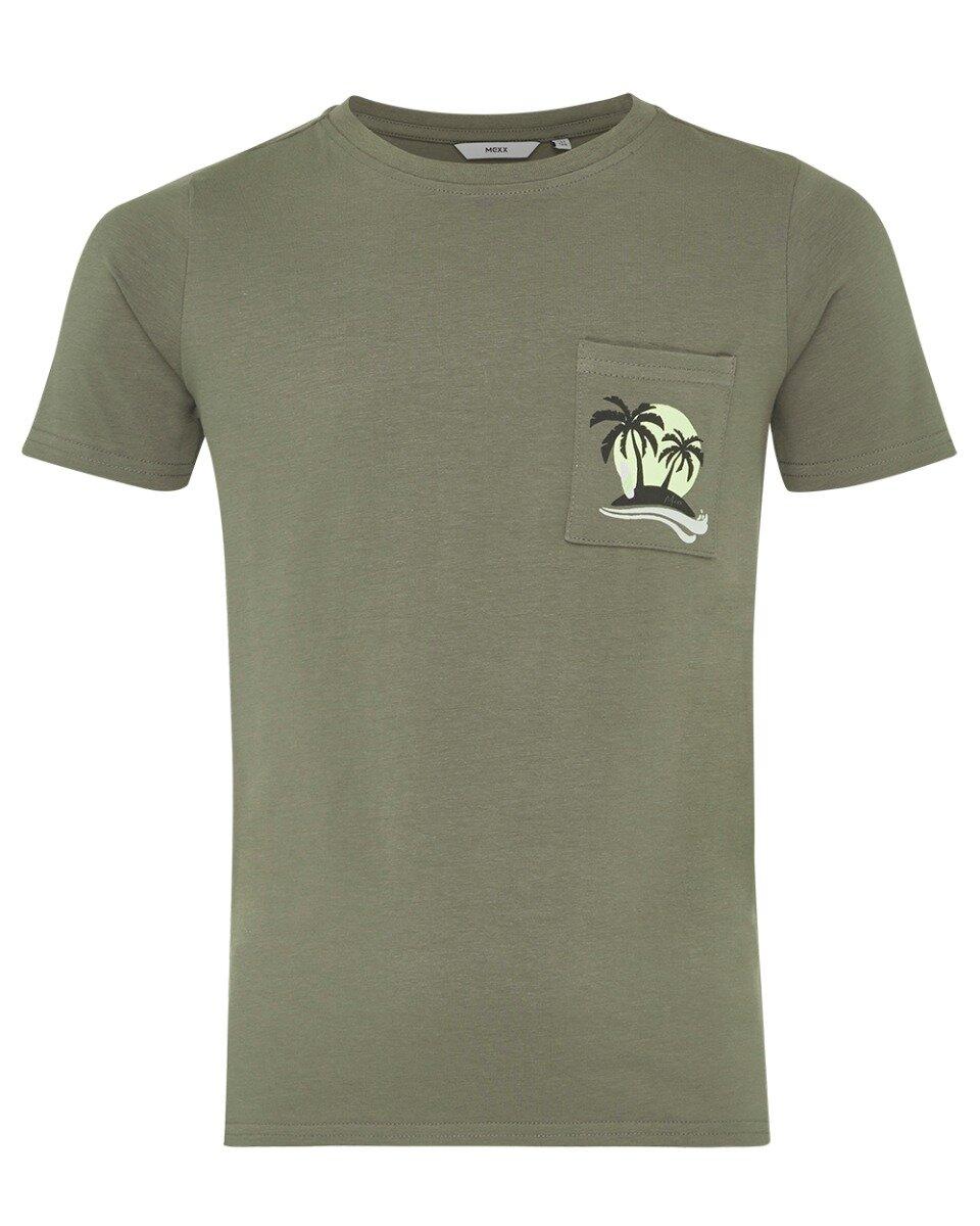 T-shirt met print donkergroen
